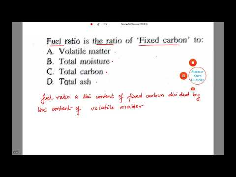 FUEL RATIO GEOLOGY IFOS, UPSC, SSC CGL, CIVIL ENGINEERING, GATE, IIT JAM, BSC