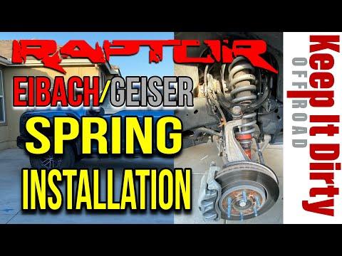 Gen 2 Raptor Eibach /  Geiser Spring Installation - Shock Removal & Installation