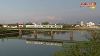 [4K60P] キハ47 鳴門線 普通列車 旧吉野川橋梁を行く