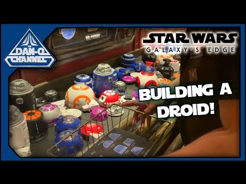 Star Wars Galaxy's Edge Opening Day Vlog Part 2 Build A Custom Astromech Droid