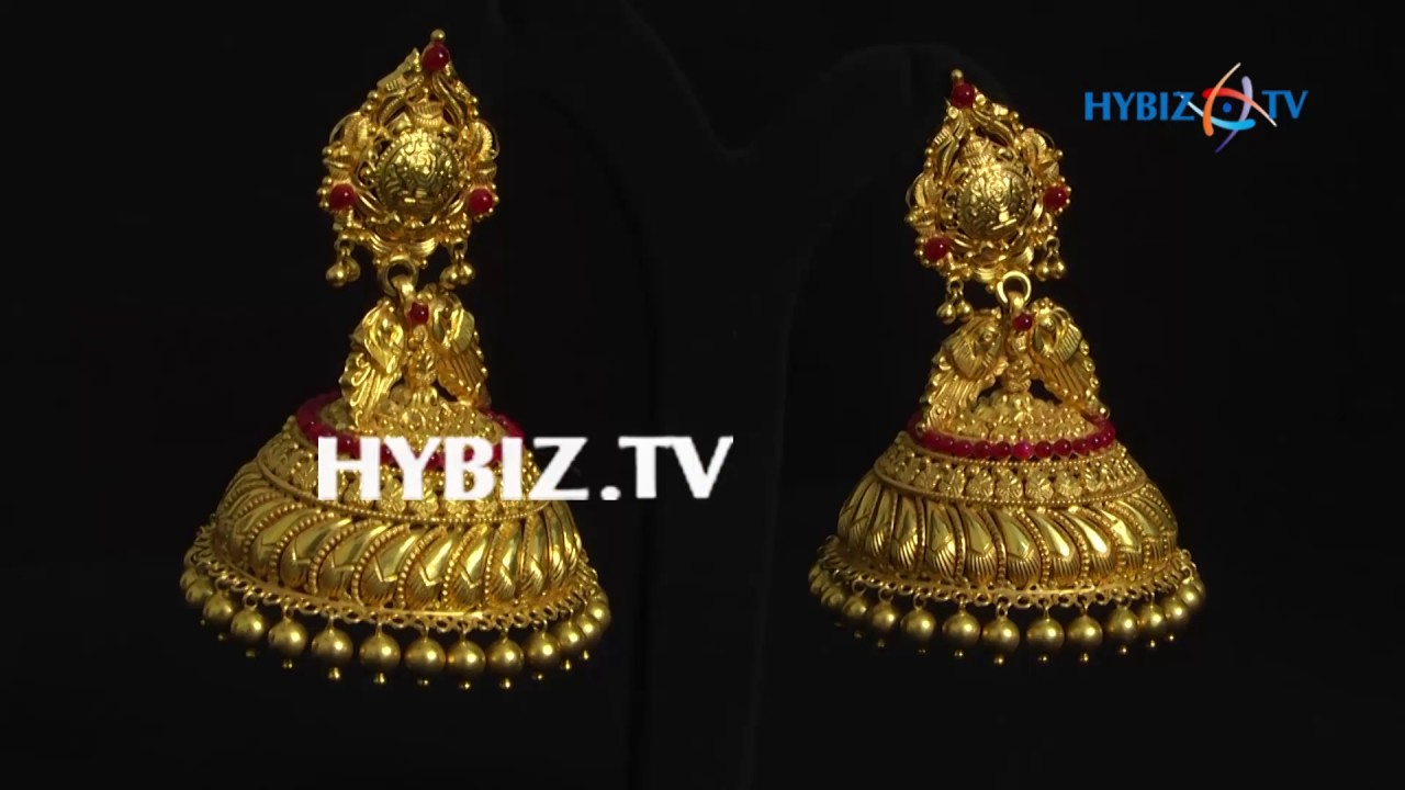 beautiful jhumkas with gold drops malabar gold and