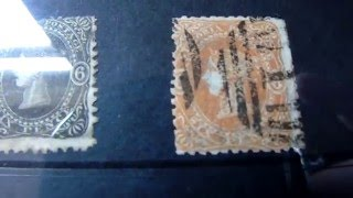 Stamp collecting  Australian beaded ovals victoria 1860