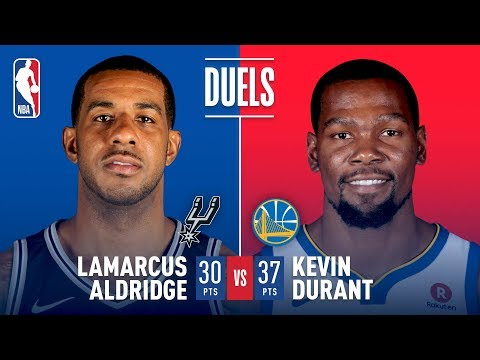 Kevin Durant and LaMarcus Aldridge Duel In Golden State