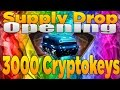 Luckiest Supply Drop Opening – 3000 Cryptokeys (Black Ops 3 100 RARE Supply Drops)