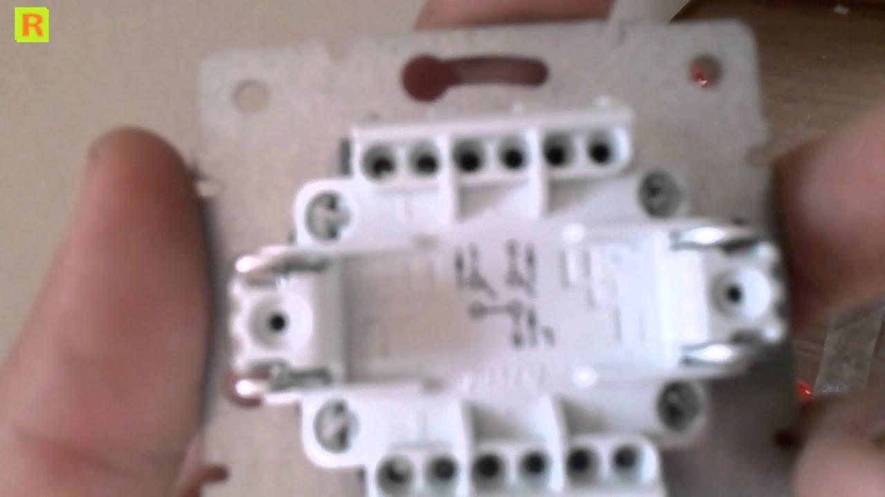 Как подключить одно и двух клавишный выключатель