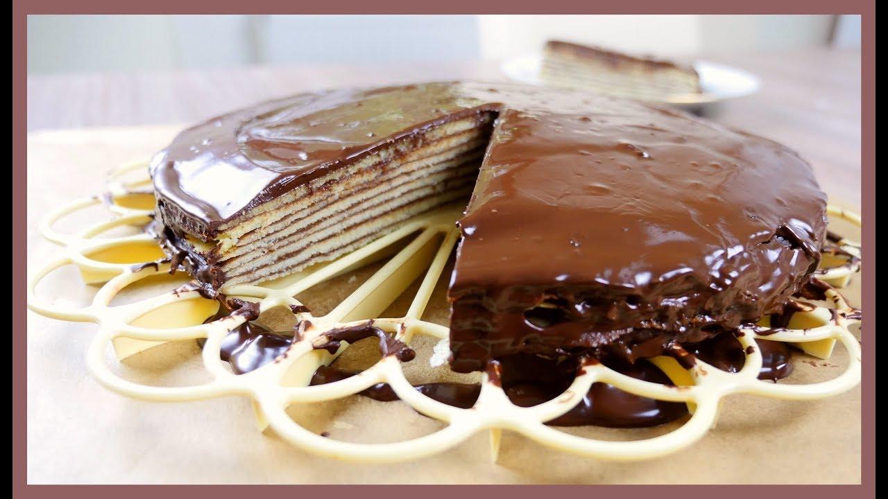 Bavarian Chocolate Layer Cake Prinzregententorte German