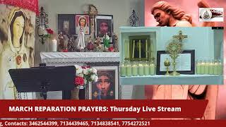 MARCH REPARATION PRAYERS: Thursday Live Stream