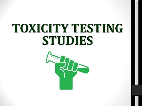 Toxicity Testing Studies/ Methods (Toxicology) ☢