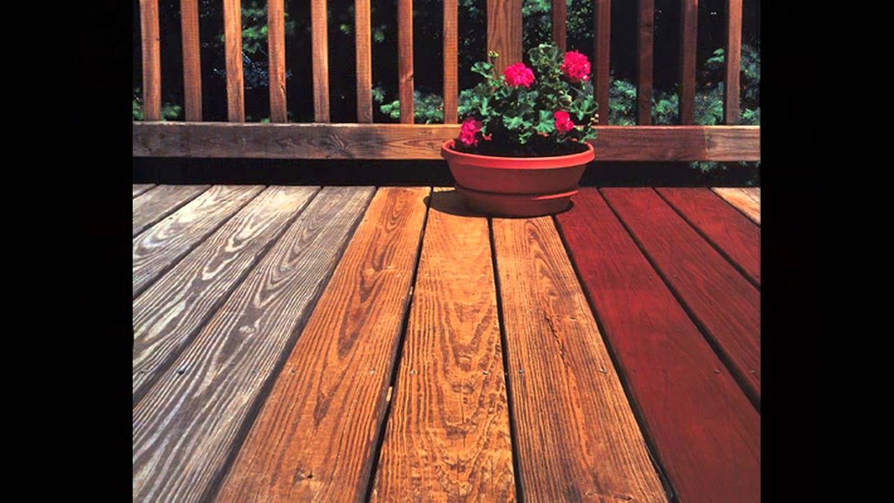 Colors Of Deck Stain Youtube