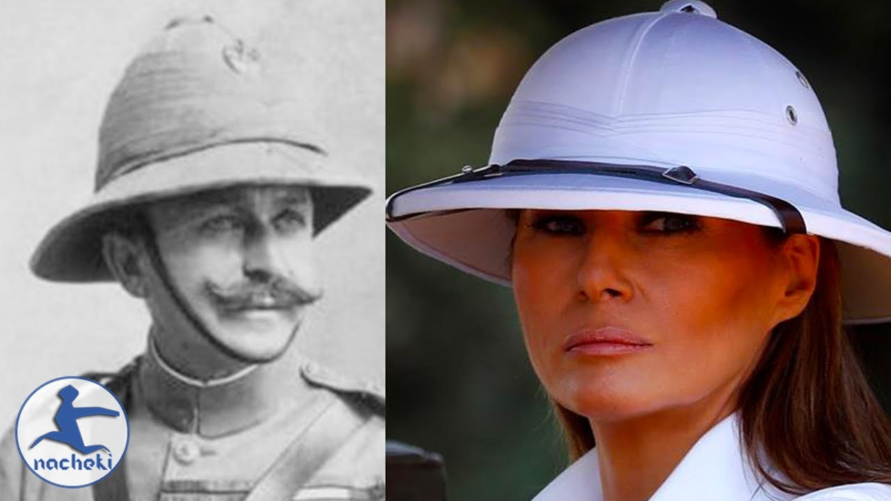 203595d0fe7fe Melania Trump Caused Outrage By Wearing Colonial Pith Hat In Kenya ...