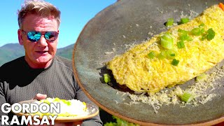I Make a Great Smoky Mountain Cheesy Crayfish Omelette | Gordon Ramsay