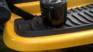 cub cadet oil change