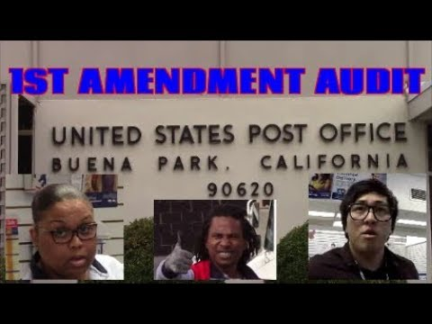 1st Amendment Audit, Buena Park PO W/ The Cameraman
