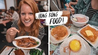 Trying HONG KONG FOOD! - Unique Breakfast Foods & Michelin Star Dinner 🍽