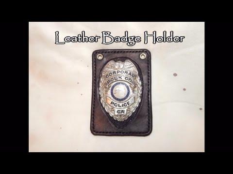 15 Leather Badge Holder Youtube