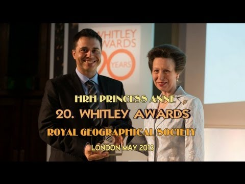 HRH PRINCESS ANNE 20th WHITLEY AWARDS + INTERVIEWS WITH AWARD WINNERS MAY 2013 HD