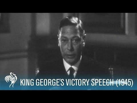 King George VI's Victory Speech: World War II (1945) | British Pathé
