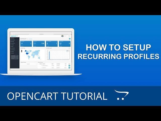 How to Setup Recurring Profiles in OpenCart 3.x