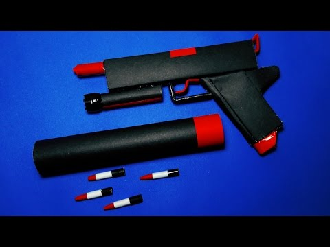 |DIY| How To Make a Paper Supernova Gun That Shoots Paper Bullets-Toy Weapons-By Dr.Origami