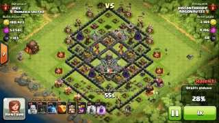 BM088 Balloons and Minions Strategy against champion level opponent Clash of Clans CoC