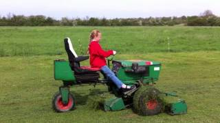 Grace cutting the runway at Dads farm