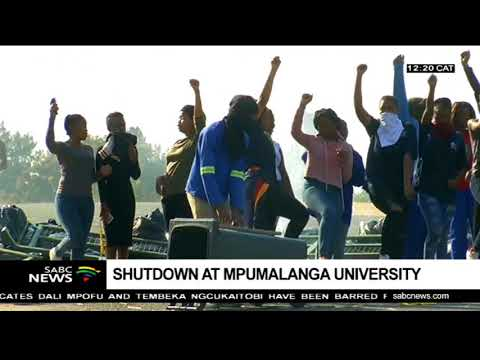 Shutdown at Mpumalanga University