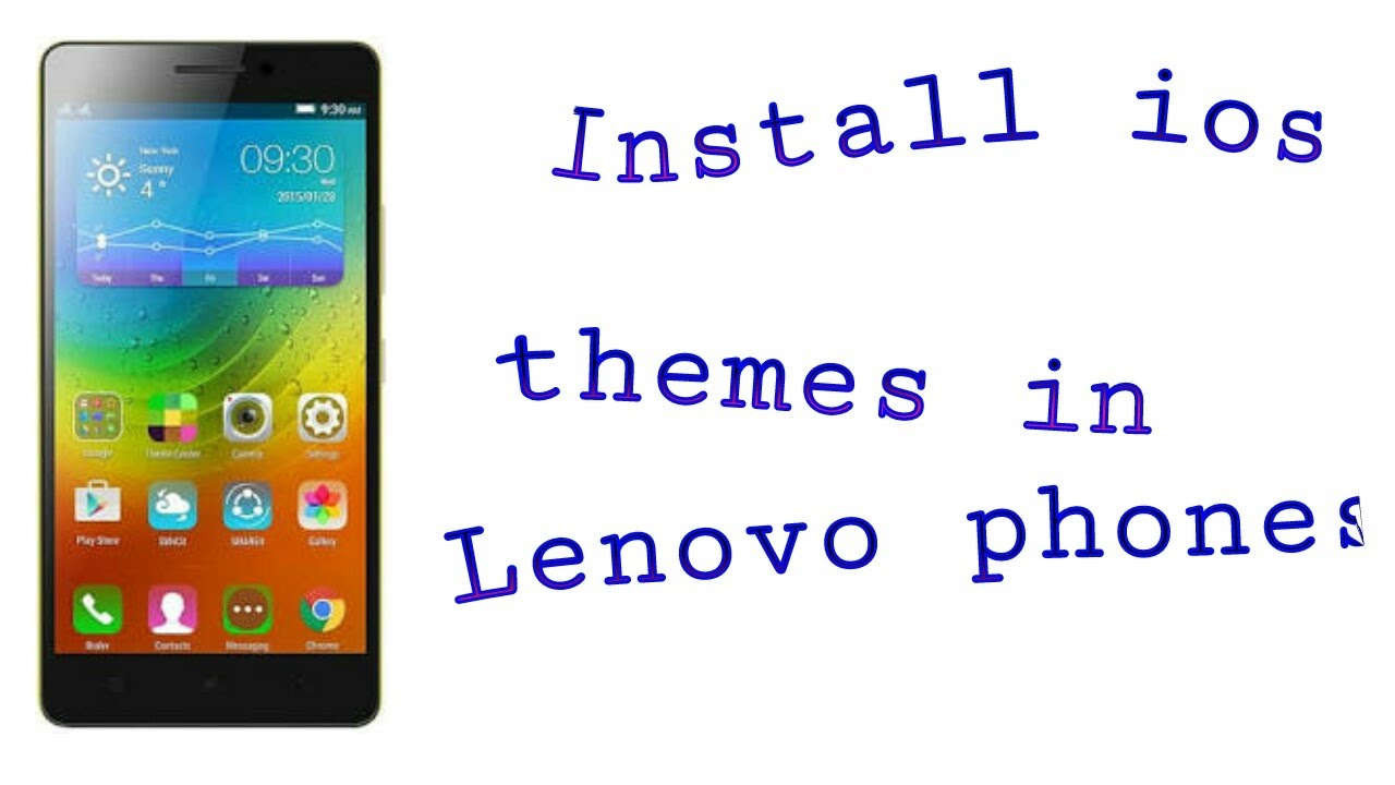 How to install custom themes in Lenovo phone   how to install iOS theme in  Lenovo phones