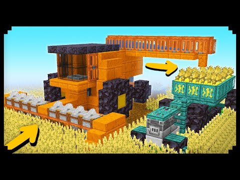 ✔ How to make a Working Combine Harvester in Minecraft