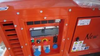 видео АД20-Т400 Дизельный генератор 22 кВт в кожухе на CUMMINS