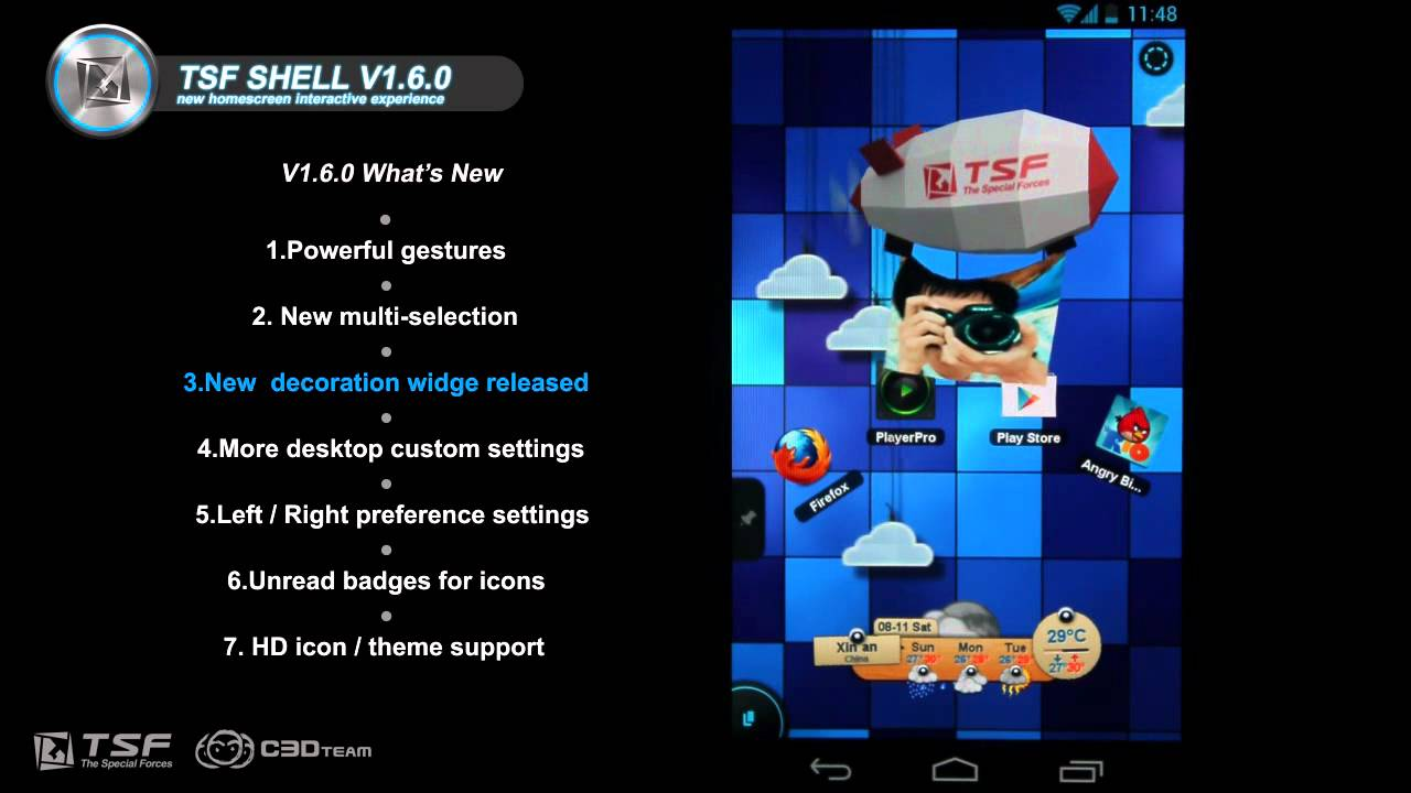 TSF Shell 3D Updates With More Gestures, Widgets, Settings