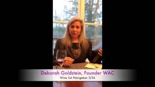 WAC Wine List Navigation Thumbnail