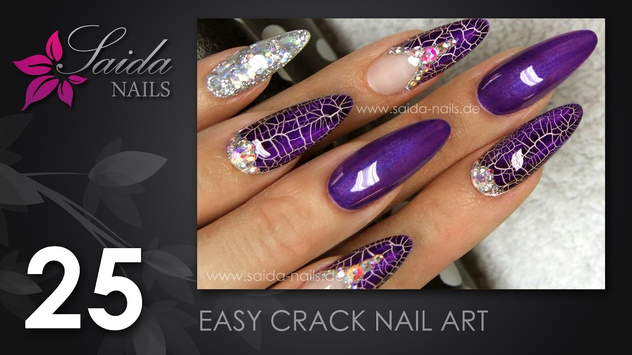 Easy Crack Nail Art 2 Saida Nails Nailart Leicht Gemalt Youtube