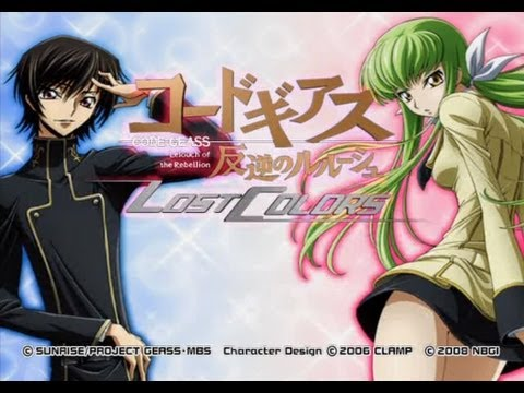 Code Geass: Lelouch of the Rebellion Lost Colors PS2 gameplay (part 1 of 4)