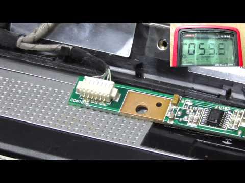 Как проверить инвертор матрицы ноутбука