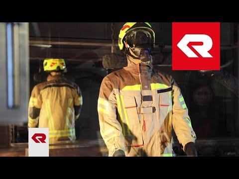 FIRE FLEX Schutzanzug – Zertifizierungstests Beregnung und Feuer