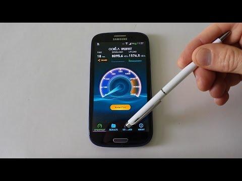 SAMSUNG Galaxy S3 WIFI 5GHz vs WIFI 2,4GHz internet speed test - YouTube
