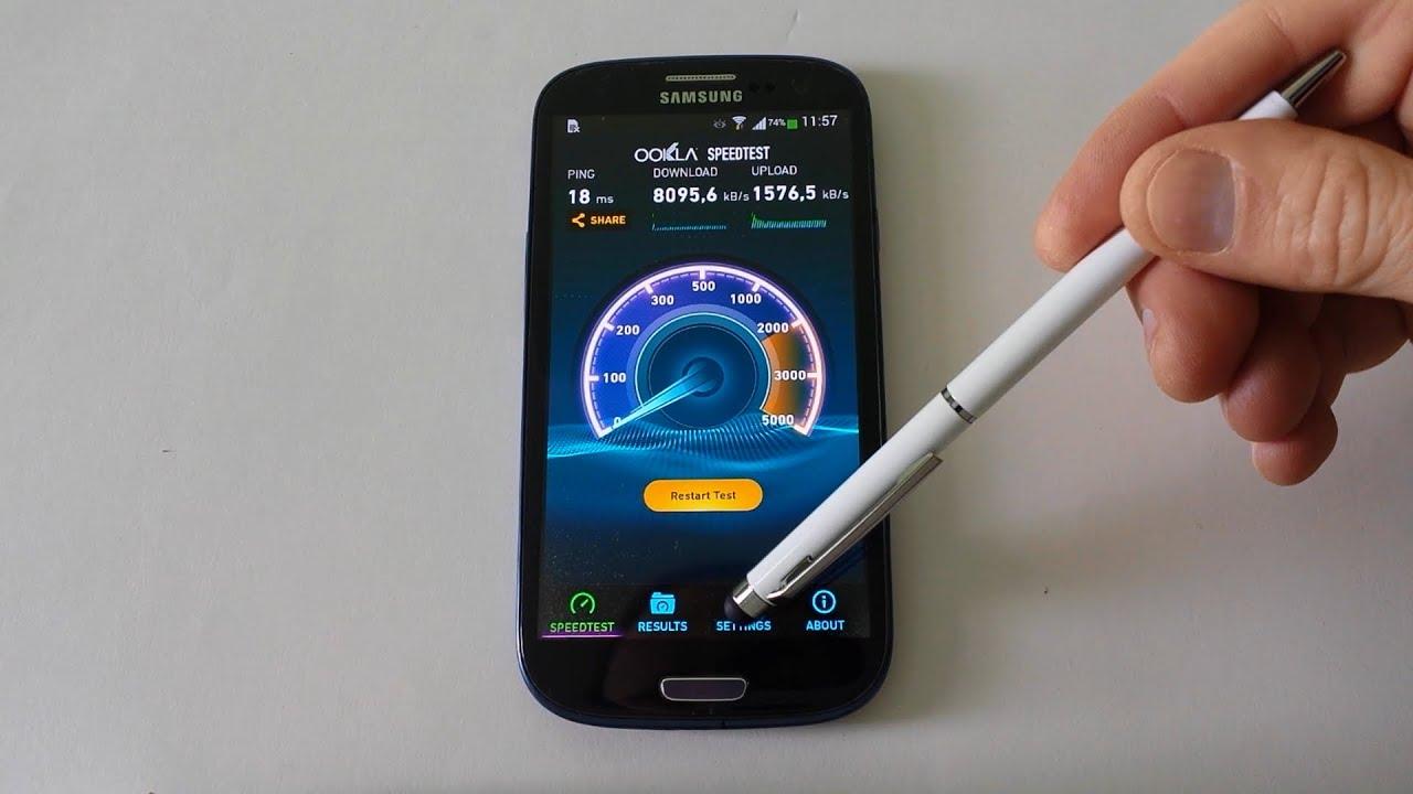 SAMSUNG Galaxy S3 WIFI 5GHz vs WIFI 2,4GHz internet speed test