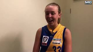 Seagulls Media | Scarlett Dunell post game - VFLW Round 12