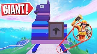 So Kenny & I tried the GIANT LLAMA PARKOUR Map... (Fortnite Creative)