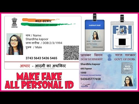 How to Make Fake Aadhar Card from Android Mobile online for Free