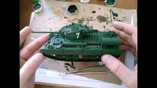 СБОРНЫЕ МОДЕЛИ  Покраска кистью модели британского танка Mk III Valentine XI / Paint tank