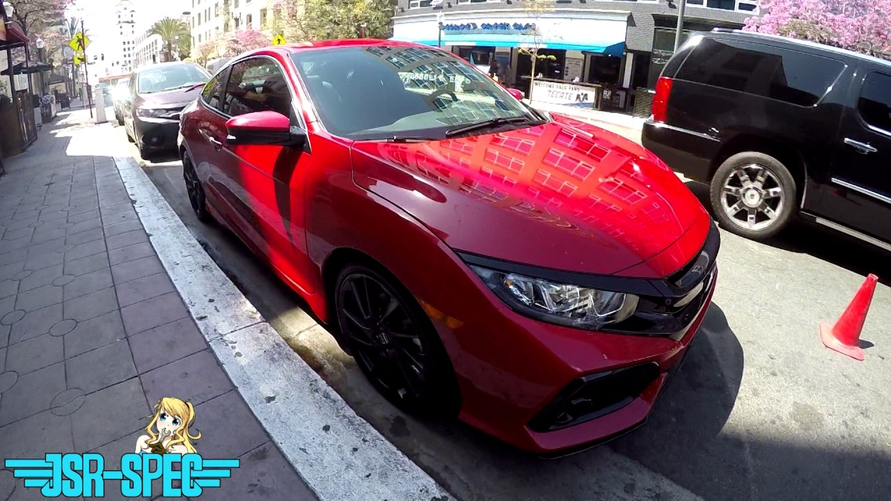 2017 honda civic si coupe spotted at long beach grand prix. Black Bedroom Furniture Sets. Home Design Ideas