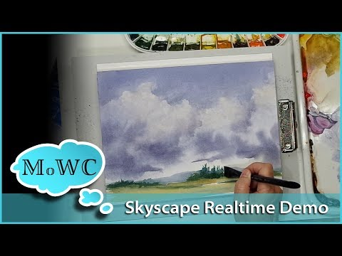 Cloudscape Demo and Hahnemühle Watercolor Paper Review