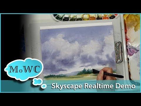 Cloudscape Demo – Hahnemühle Watercolor Paper