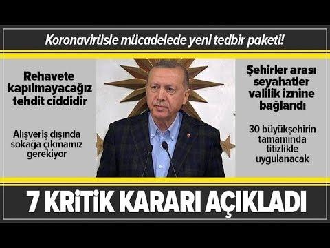Başkan Erdoğan, Koronavirüs İle İlgili Alınan Yeni Kararları Açıkladı! / A Haber