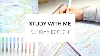 STUDY WITH ME | Sunday Edition