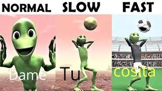 Evolution Of Dame Tu Cosita Slow Normal Fast Challenge Part 1