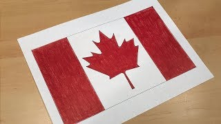 How to Draw the Canadian Flag | Flag Speed Draw