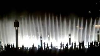 Dancing water fountain Dubai with Titanic theme song
