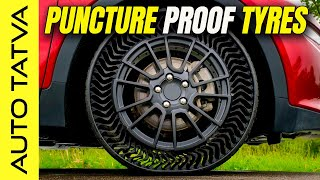 Michelin Uptis Tires : अब  No More Punctures | भूल जाओ Tension | (Future Technology) | Hindi